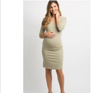 Light olive Pinkblush maternity dress
